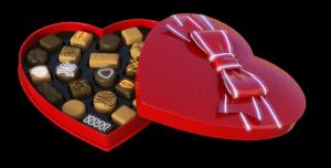 ハートのチョコの詰め合わせ